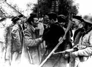 Armed prisoners after the liberation